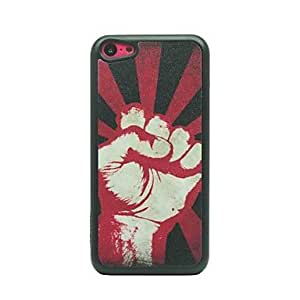 Powerful Fist Drawing Pattern Hard Case for iPhone 5C
