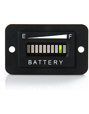 runleader rl-bi003 12v/ 24v battery fuel gauge indicator led battery  indicator meter gauge