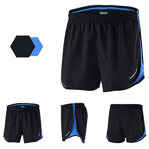 Avec Sport Et Short Rapidement Interne Hommes Séchage Bleu Gwell Marathon Shorts Running Slip Respirant wqUaUH