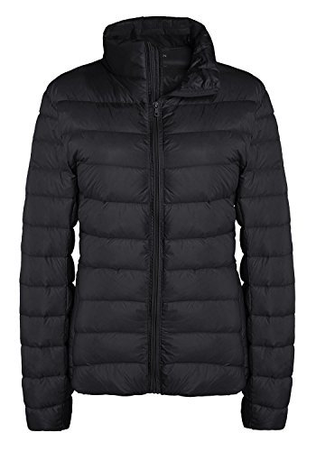 ZSHOW Women's Outwear Down Coat Lightweight Packable Pillow Short Down Jacket, US Medium, Black