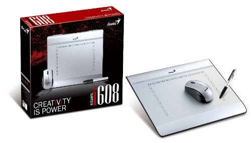 Genius MousePen i608 Graphics Tablet (Silver)