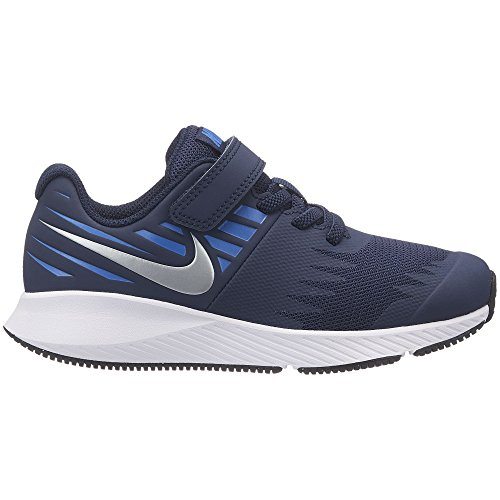 Pictures of Nike Boy's Star Runner (PS) Pre 921443 Obsidian/Metallic Silver/Signal Blue 1