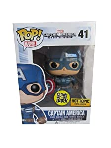 upc 849803040277 product image for Funko Pop! Marvel Captain America Rare Exclusive, Glow-in-the-Dark Vinyl Figure | barcodespider.com