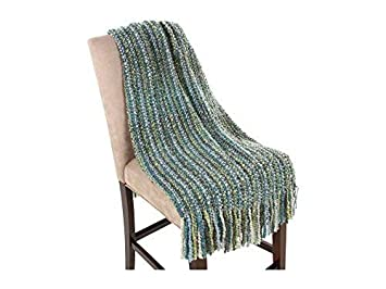 Kennebunk Home Ombre Luxurious Woven Throw 39 x 6 Oyster