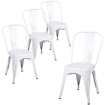 Amazon Com Buschman Set Of Four White Metal Indoor