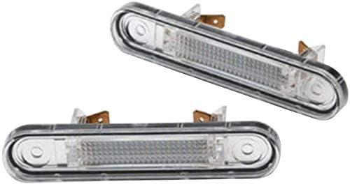 Dengofng 3W Complet LED /Éclairage Plaque Immatriculation pour Mercedes W124 W201 Classe E W202 Classe C Blanc Free Size