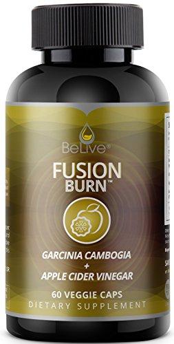 Apple Cider Vinegar & Garcinia Cambogia Weight Loss Pills for Women and Men - Fat Burner Supplement for Energy, Focus, and Endurance - FusionBurn 60 Veggie Caps
