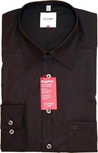 Olymp Hemd Luxor Comfort Fit - schwarz, Kragenweite:39