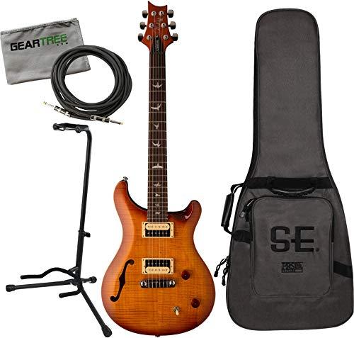 PRS Custom 22 Semi-Hollow Vintage Sunburst Guitar w/Bag, Stand, Cable, Cloth -