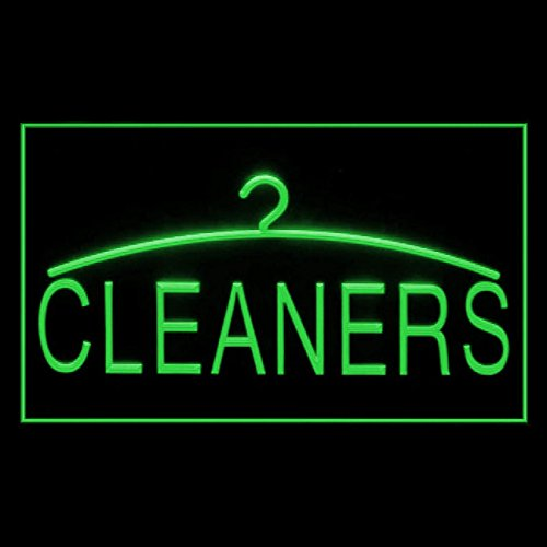 Cleaner Dry Cleaning Laundromat Coin-operated Comfortable LED Light Sign 190042 Color Green