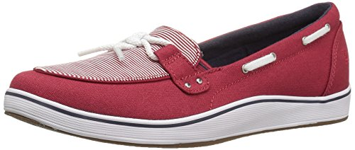 Grasshoppers Canvas Shoes (Grasshoppers Women's Windham Fashion Sneaker, Red/White, 8.5 M US)