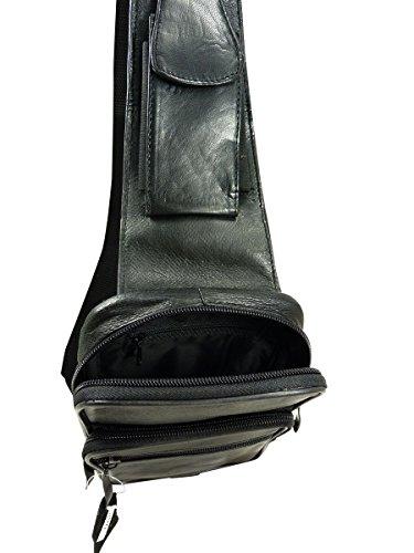 ec298a9a81 Chaussmaro Petite Sacoche Pochette Holster homme en cuir Noir TU:  Amazon.fr: Chaussures et Sacs