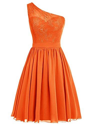 Robe de Court d'honneur de de Demoiselle paule Robe Bal Orange Une soire fte Robe Robe Chiffon xUzqEwwp
