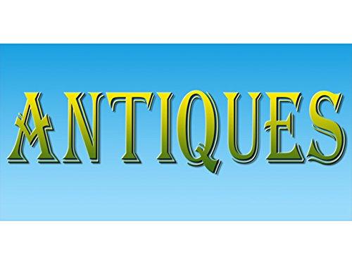 bn0947 ANTIQUES Open Business Shop Vintage Valuable Vase Treasure Banner Sign