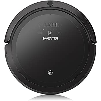 Automatic Robotic Vacuum Cleaner, UV Sterilize and HEPA Style Filter for Pet Fur Hair and Allergens, Pet Hair Cleaner with Mop, Hardwood and Tile-Black