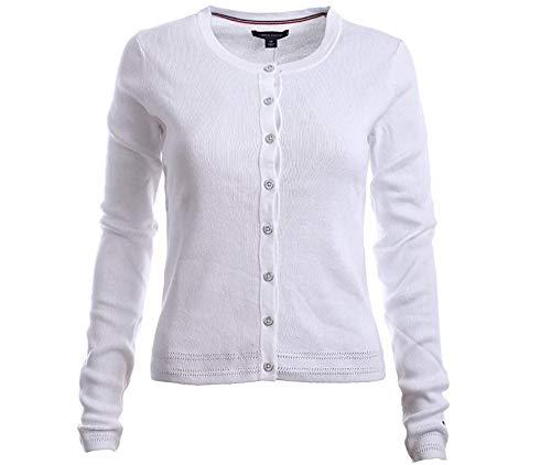 Tommy Hilfiger Womens Cardigan Sweater (XX-Small, White) (Tommy Hilfiger Women Cardigan)