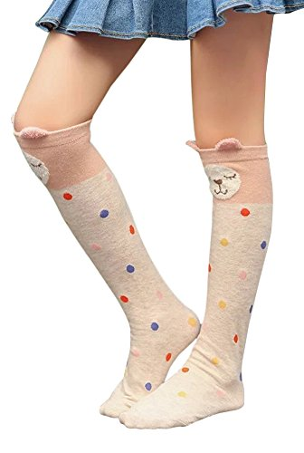 SportsWell Girls Cute School Uniform Stockings Cartoon Animal Knee High Socks – DiZiSports Store