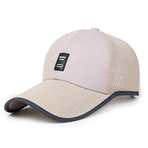 Tahamz Baseball Cap Quick-Drying Breathable Sports Cap Unisex Sunscreen Uv Protection Sun Hat Multicolor Cotton Twill Mesh Adjustable Outdoor Cap ()