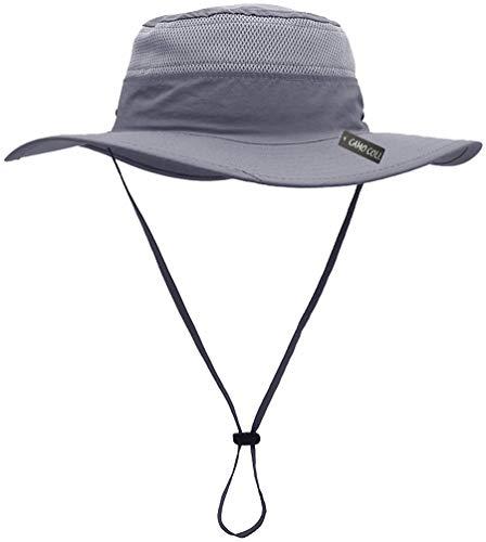 Camo Coll Outdoor Sun Cap Camouflage Bucket Mesh Boonie Hat (Steel Grey, One Size) ()