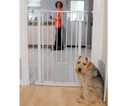 Bettacare Pet Gate with Cat Flap Effective Barrier for Pets with Extensions Available, 75 – 84 cm/ 104 cm 41hT9E2Y8lL