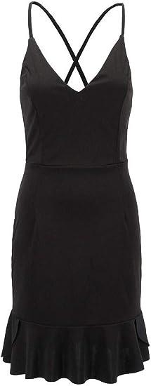 Jixin4you® Reizvoll Damska Sommer Wickelkleider Minikleid Bodycon Kleider: Odzież