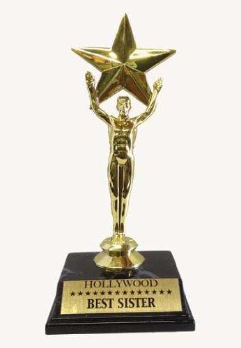 Recognition Star Trophy, Best Sister, Award Trophy, 7.5