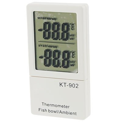 sourcingmap Aquarium Fish Tank Ambient LCD Display Digital Thermometer by sourcingmap