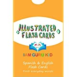 Spanish and English Illustrated Everyday First Words Flash Cards