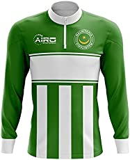 98a1be89b48 Airo Sportswear Mauritania Concept Football Half Zip Midlayer Top (Green- White)