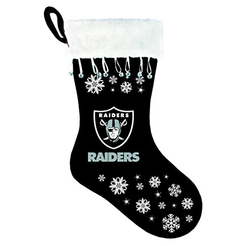 Boelter Brands NFL Oakland Raiders Snowflake Stocking