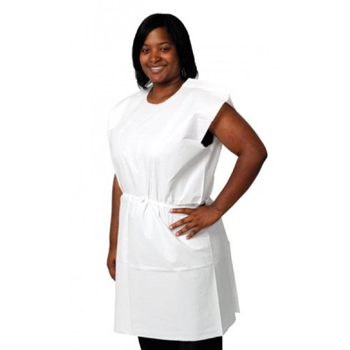 Pro Advantage P750023 Exam Gown, Tissue/Poly/ Tissue, 30