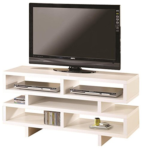 Coaster Home Furnishings TV Console with 5 Open Storage Compartments White ()