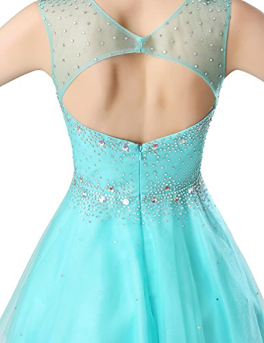 aj032 Dresses Prom Beading Juniors Gowns Short anmor Wedding Mint Homecoming Party Backless Sexy wB7IWq