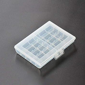Caja de Soporte de batería de 1 Pieza para sostener 10 Pilas AA AAA Cubierta de Caja de Almacenamiento de plástico Duro para Caja de batería No.5 / No.7: Amazon.es: Electrónica