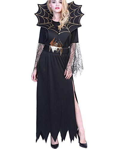 Ytwysj Women's Sexy Spider Witch Halloween Costume Adult Party Fancy Dress up Outfit Cosplay Costume (Sexy Spider Witch)