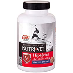 Nutri-Vet Hip & Joint Chewable for Dogs, Advanced Strength, 90 count