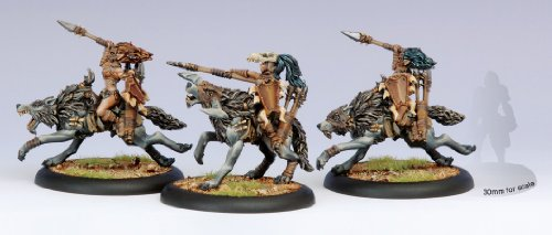 Privateer Press - Hordes - Circle Orboros: Tharn Wolf Riders Unit Box Model Kit 3