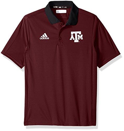 adidas NCAA Texas A&M Aggies Adult Men NCAA Sideline Coaches Polo, Medium, Maroon
