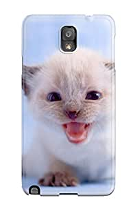 New Fashionable Annie T Crawford FLddeeY1380MsCgV Cover Case Specially Made For Galaxy Note 3(adorable Little Kitty)