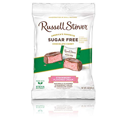 Russell Stover Easter - Russell Stover Sugar Free Strawberry Cream, 3 oz. Bag