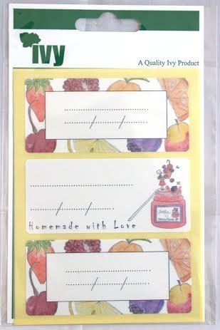 36 X Jelly Jar Labels Preserves Home Made Jam Labels Self Adhesive 34 X 75mm