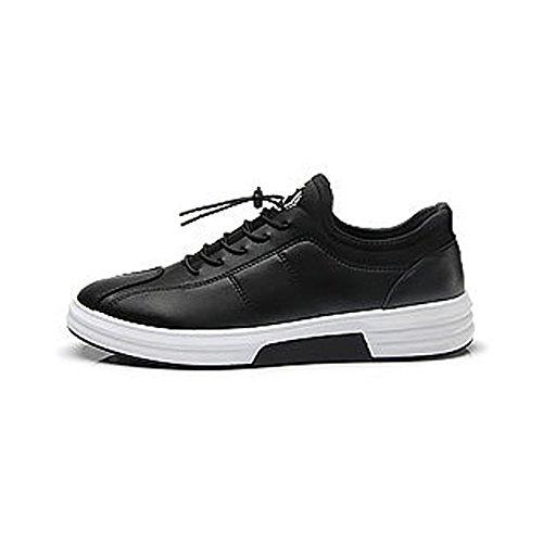 antidérapants Hommes Black Lacent Plates Chaussures Sneakers Les Décontractés PU Réglés Chaussures Cricket Mocassins Cuir Cheville des en de TYt8UUgwq