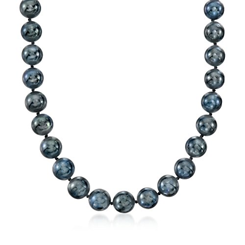 Cultured Pearl Black Freshwater 11mm (Ross-Simons 10-11mm Black Cultured Freshwater Pearl Necklace With 14kt White Gold)
