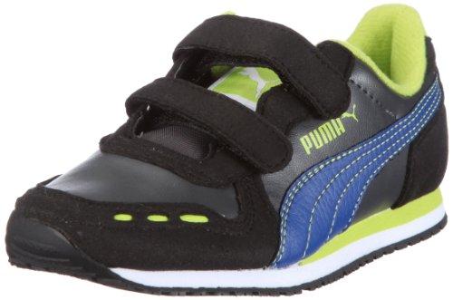 Puma Cabana Racer SL V Kids - Zapatillas infantil Negro (Schwarz/Black-Dark Shadow-Limoges)