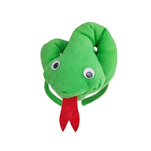 FENICAL Snake Headband Horror Party Headdress Snake Plush Costume Snake Hair Hoop Halloween Costume Accessories