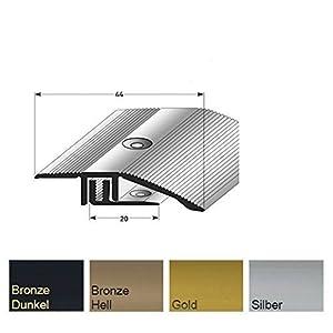 Compensador de altura 135 cm 7-15 mm Compensador Perfil de ajuste Listones de parquet Barra inferior - bronce oscuro