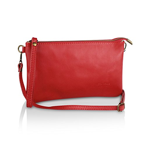 à soirée Pochette femme Vrai Sac in 3 Glamexx24 pour mariage 009 1 1 Rouge 009 Made Italy Sac Cuir bandoulière 8xqAng0I4