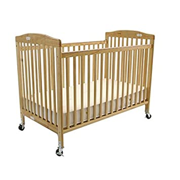 Attirant LA Baby Full Size Folding Pocket Crib, Natural