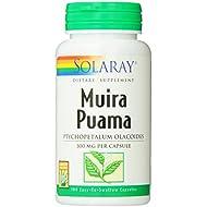 Solaray Muira Puama Root 600 mg | Healthy Energy, Physical Performance & Libido Support | 50 Servings | 100 VegCaps