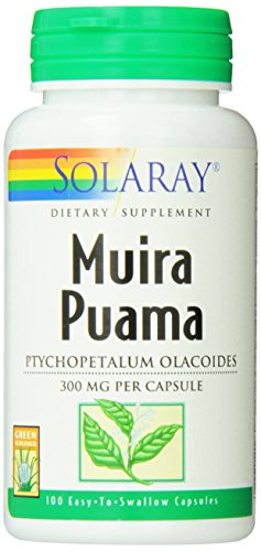 Solaray Muira Puama Root, 300 mg, 100 Count